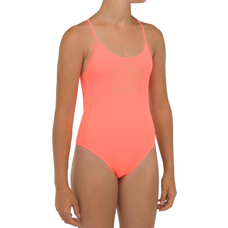 1-piece swimsuit 100 - coral