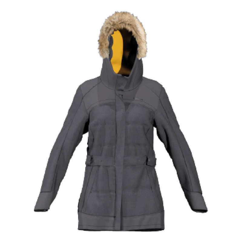 WOMEN SNOW HIKING WARM JACKETS Hiking - W Lgt Parka SH500 X-Warm - Gr QUECHUA - Hiking Jackets