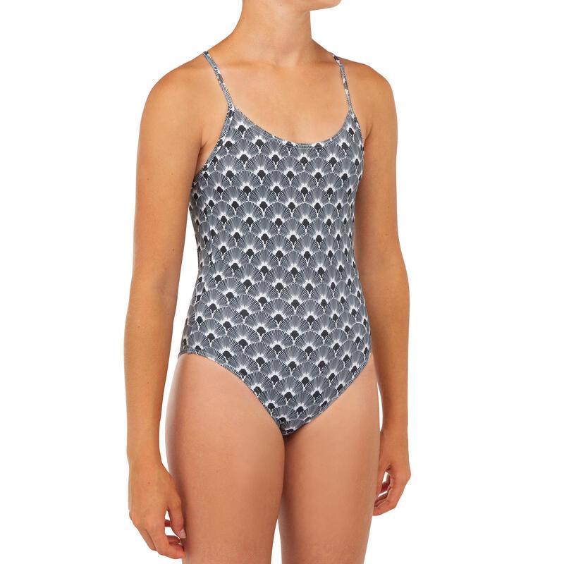 Dívčí plavky jednodílné 100 černé
