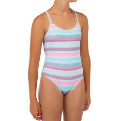Surfbadpak voor meisjes blauw Hiloe 100