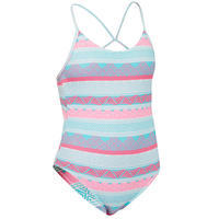 GIRL'S SURF SWIMSUIT HILOE 100 BLUE
