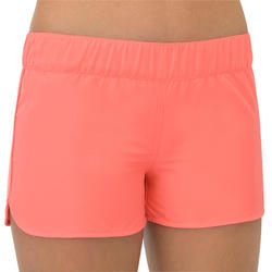 SHORT DE BAIN SURF FILLETTE CORAIL KINA 100