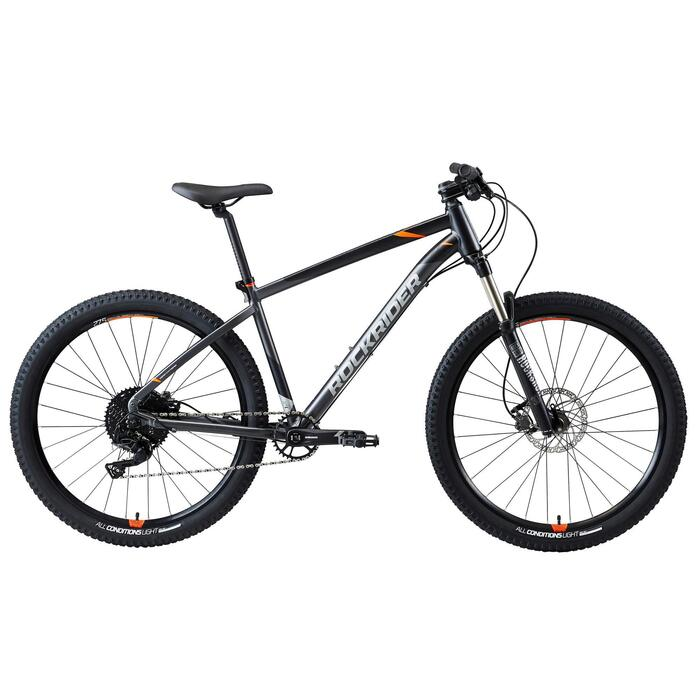 "Mtb Rockrider ST 900 27,5"" Sram 1x11-speed mountainbike GRIJS/ORANJE"