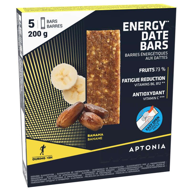 BATONY, ŻELE& PO WYSIŁKU Bieganie - Baton energetyczny Banan x5 APTONIA - Akcesoria do biegania