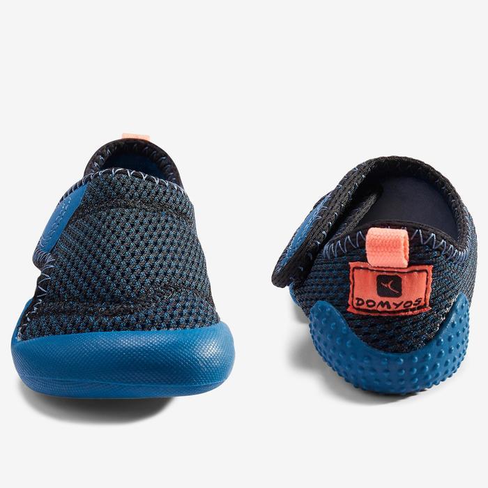 Gymschoenen kleutergym 580 Babylight ademend marineblauw/zwart/koraal
