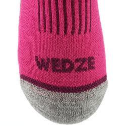 Kids' Ski Socks 100 Pink