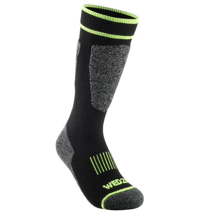 兒童滑雪襪100 - 黑色