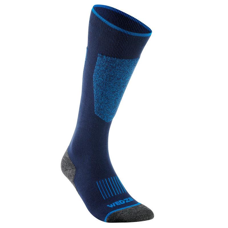 Skisokken voor volwassenen 100 blauw
