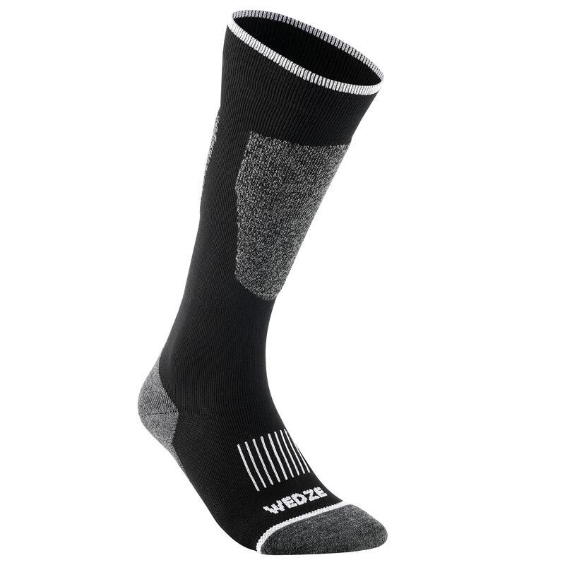 Adult Ski Socks 100 - Black
