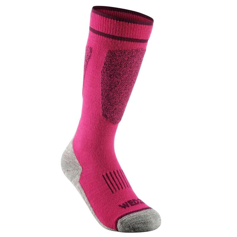 CHILDREN'S SKI SOCKS 100 PINK