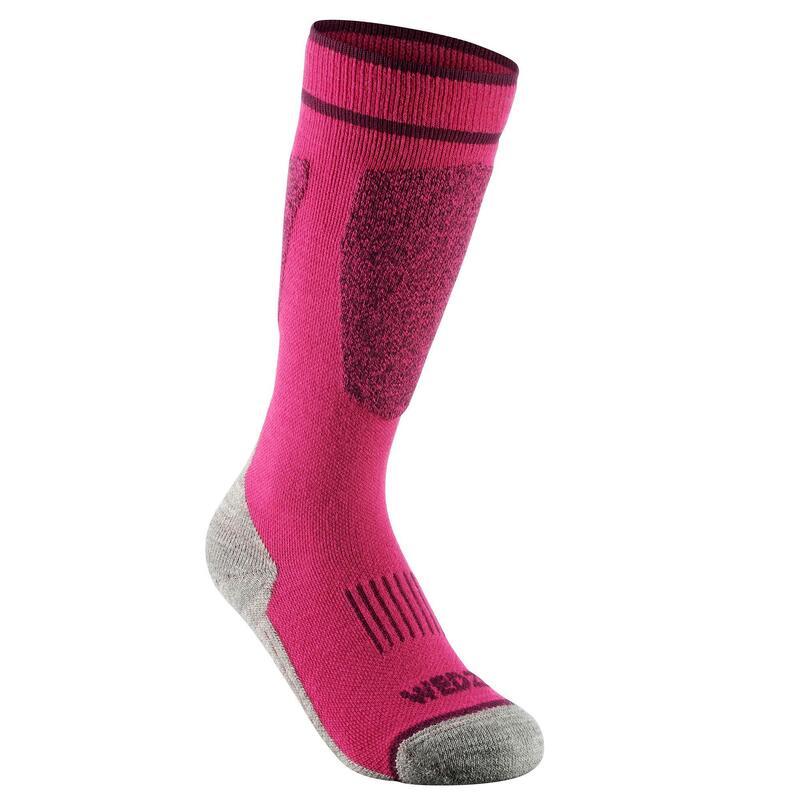 Skisokken kind   Warme sokken kind   Thermo   Wol  100   Roze