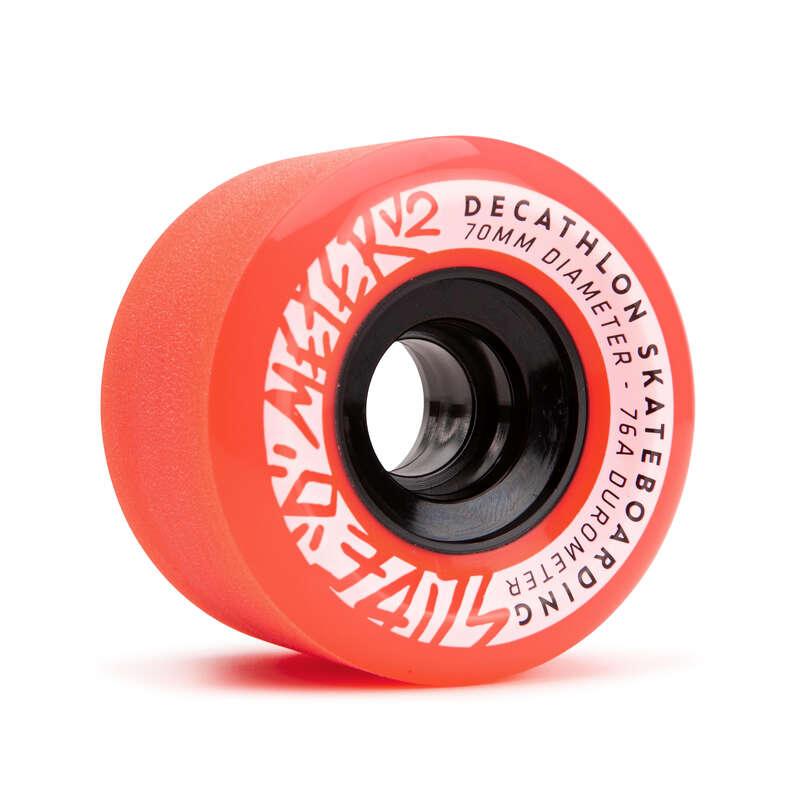 LONGBOARD AND CRUISER Skateboarding and Longboarding - 70 mm 76A Wheels Slide x 4 OXELO - Skateboarding and Longboarding