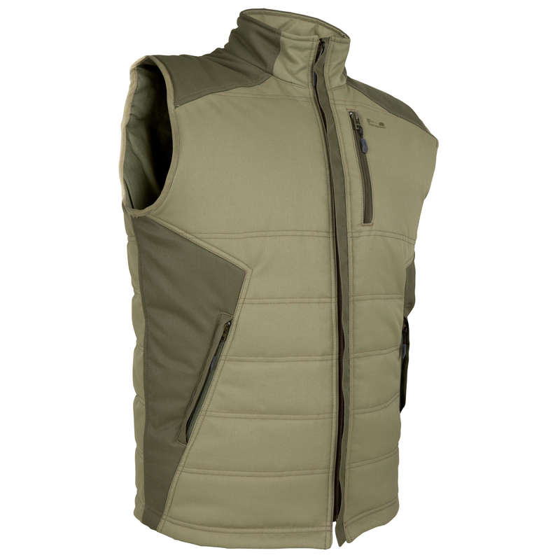 FLEECES/PADDED JACKETS Shooting and Hunting - 300 GILET GREEN SOLOGNAC - Hunting and Shooting Clothing