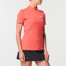 Trailshirt met korte mouwen voor dames aardbeirood