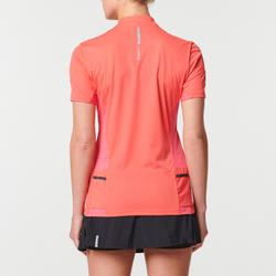 WOMEN'S SHORT-SLEEVED TRAIL RUNNING T-SHIRT - STRAWBERRY PINK