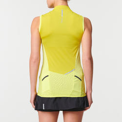 WOMEN'S TRAIL RUNNING TANK TOP - GREEN/YELLOW