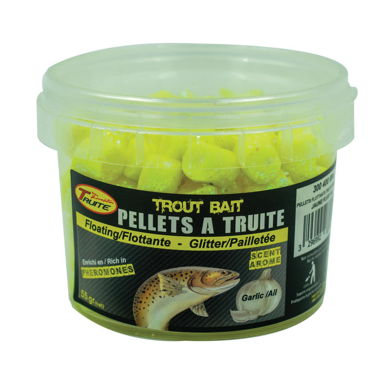 Trout Pond Fishing Floating Trout Pellets - Yellow