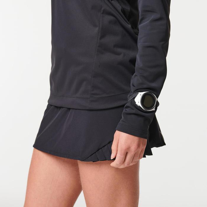 Softshell shirt met lange mouwen voor trail dames zwart/brons