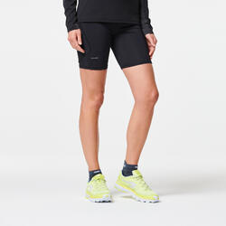 WOMEN'S TRAIL RUNNING TIGHT SHORTS - BLACK/BRONZE