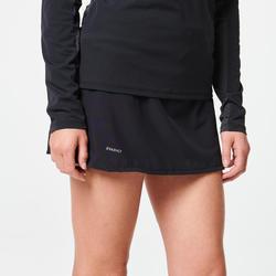 女款越野跑步褲裙- 黑色