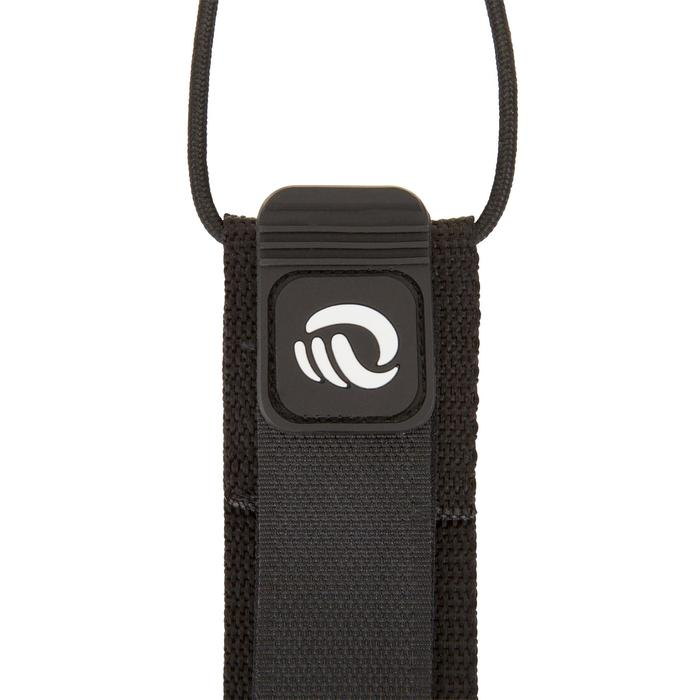 Leash voor surfboard 7' (210 cm) diameter 7 mm zwart