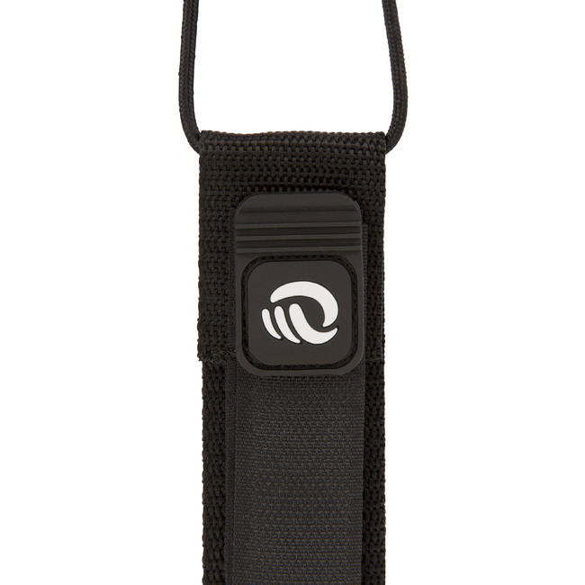 LONGBOARD SURF LEASH 9' (275 CM) - BLACK