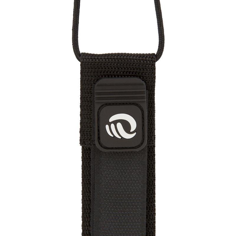 7 mm Diameter Longboard Surf Leash 9' (275 cm) - Black