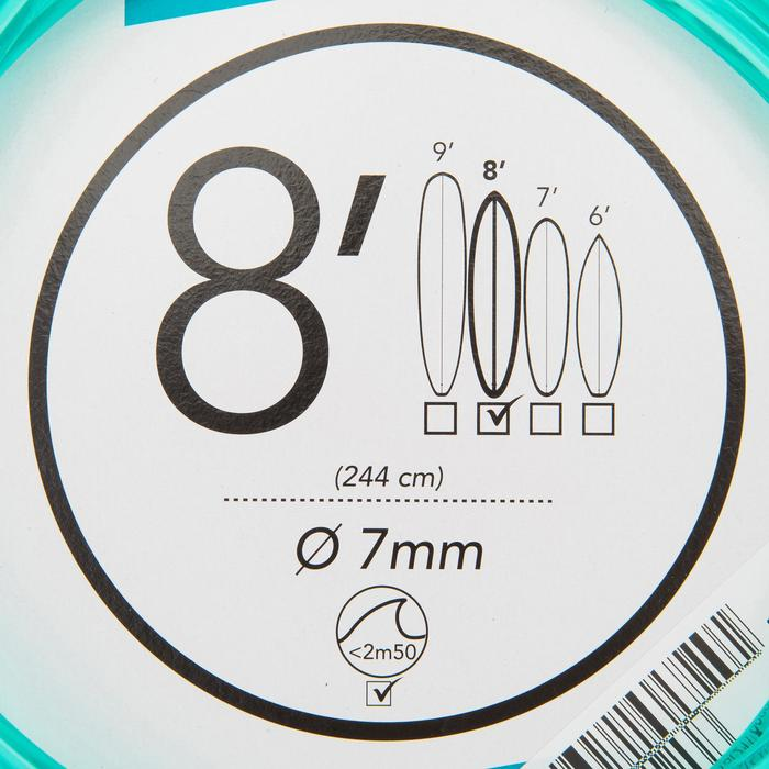 Surf-Leash 8' 240cm Durchmesser 7mm grün