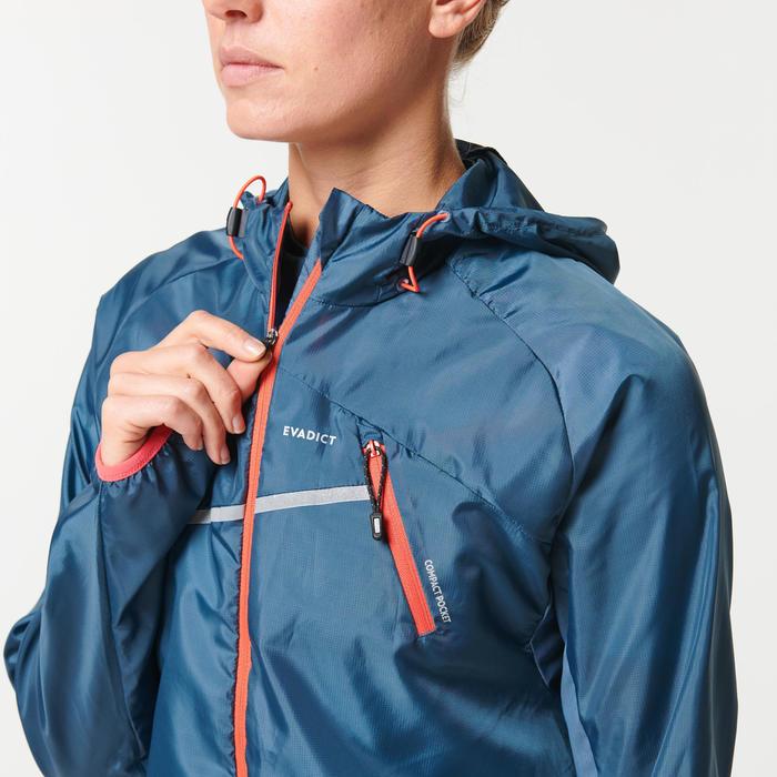 Windjack voor trail dames donkergrijs