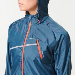 WOMEN'S WINDPROOF TRAIL RUNNING JACKET - DARK GREY
