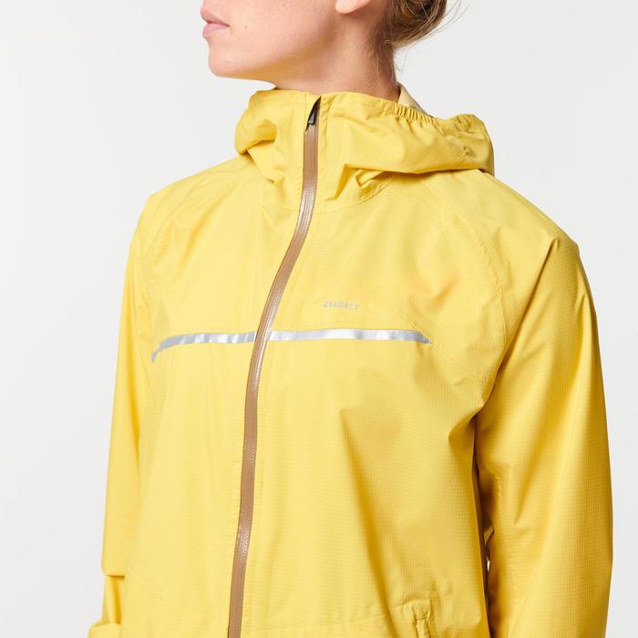 Women's Waterproof Trail Running Jacket - Yellow/Ochre
