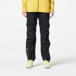 Pantalon imperméable trail running femme noir