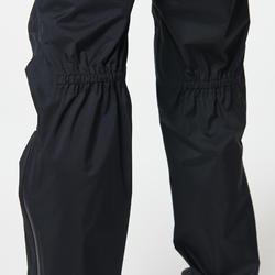 女款越野跑防水長褲 - 黑色