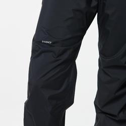 Pantalon de pluie imperméable trail running femme noir