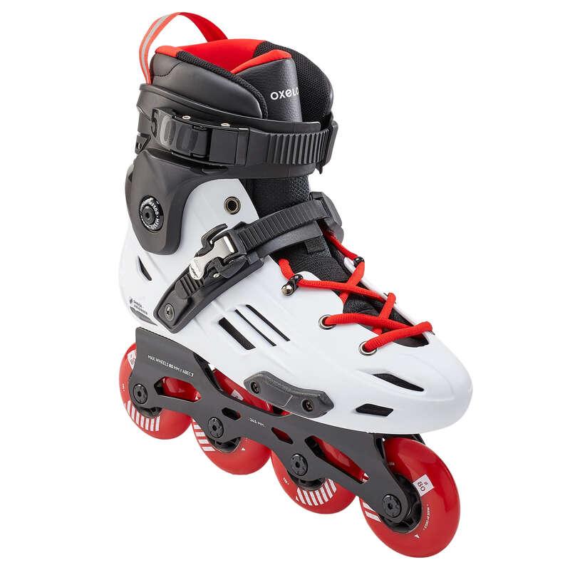 ADULT INLINE SKATE Inline Skating and Roller Blading - MF500 HB - White/Red OXELO - Inline Skating and Roller Blading