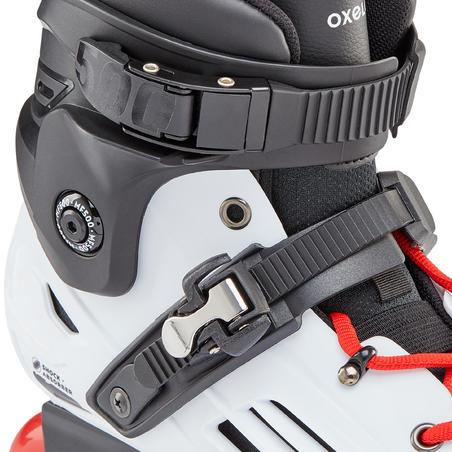 Adult Freeride Hardboot Inline Skates MF500 - White/Red