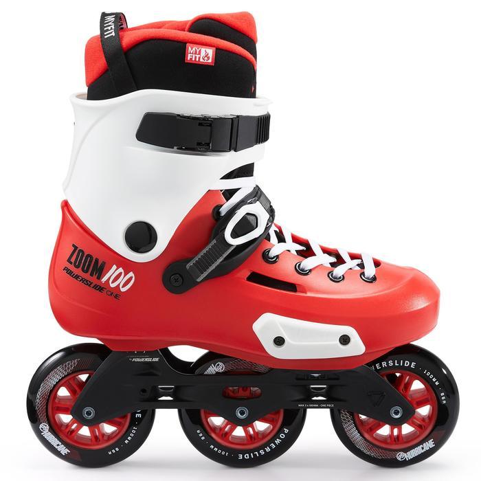 Freeride skeelers volwassenen Zoom 100 rood wit