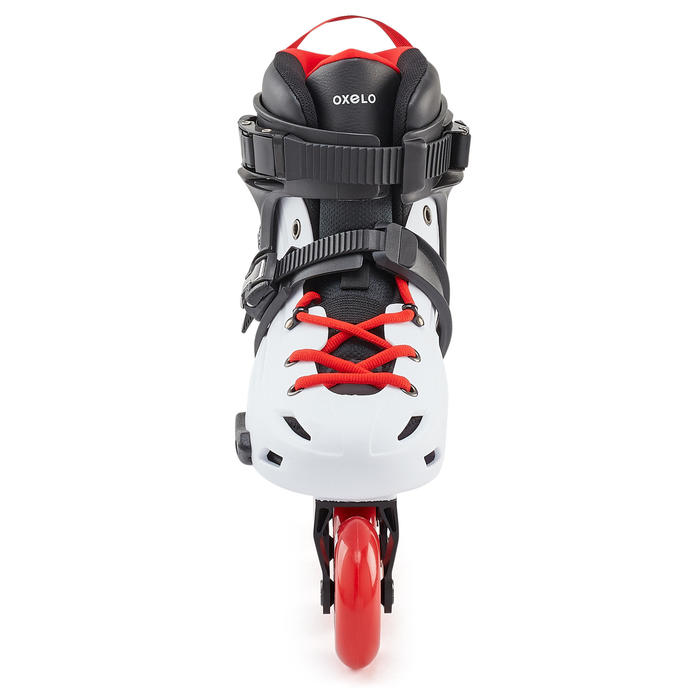 Freeride skeelers volwassenen hardboot MF500 wit/rood
