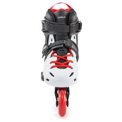 成人直排輪MF500 HardBoot - 白色/紅色