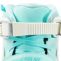 Roller en Ligne Adulte Femme Powerslide PHUZION RADON 3x90mm blanc vert clair