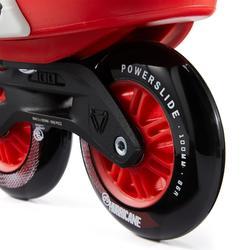 Roller En Ligne freeskate adulte ZOOM 100 rouge blanc