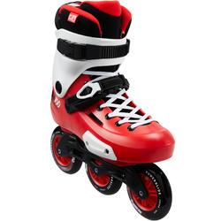 Inline Skates Inliner Triskate Freeskate ZOOM 100 Erwachsene rot/weiß