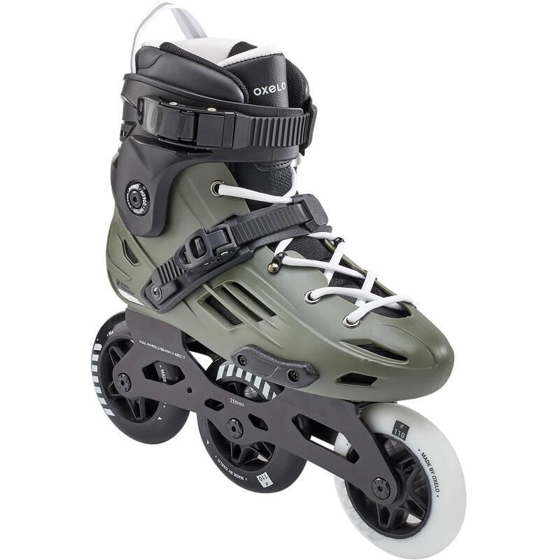 Kolieskové korčule MF900 HardBoot na freeskate kaki OXELO