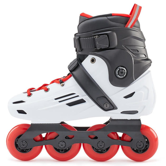 Adult Freeride Hardboot Inline Skates MF500 - White/Red