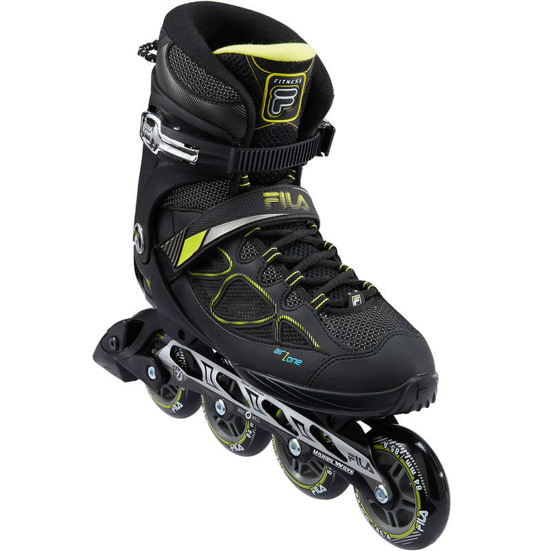 ADULT INLINE SKATE Inline Skating and Roller Blading - 84 Fila Primo Air Zone BK Lime FILA - Sports
