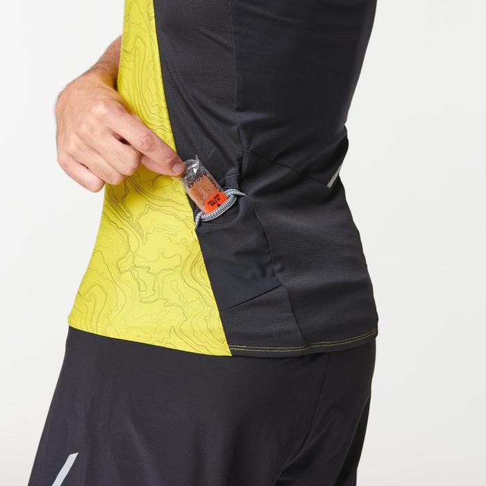 Débardeur perf trail running homme vert jaune