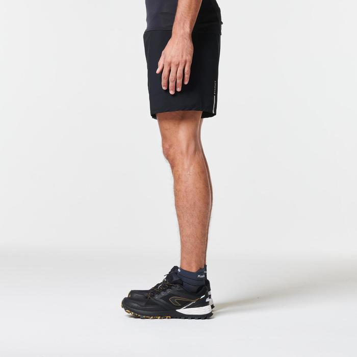 MEN'S TRAIL RUNNING BAGGY SHORTS - BLACK