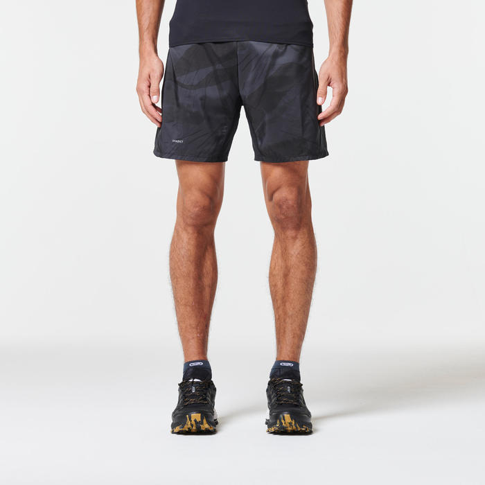 MEN'S TRAIL RUNNING BAGGY SHORTS - GRAPH GREY