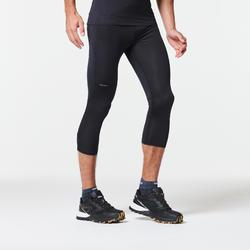 Tight voor traillopen heren driekwart zwart/brons