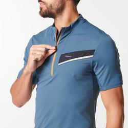 Trailshirt met korte mouwen voor heren grijs/zwart